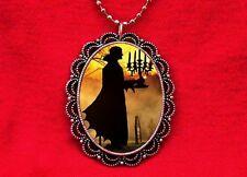 VAMPIRE CANDELABRA DRACULA HORROR PENDANT NECKLACE GOTH