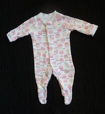 Baby clothes GIRL premature/tiny<7.5lbs/3.4kg F&F cupcake pink/white babygrow