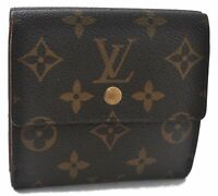 Authentic Louis Vuitton Monogram Portefeuille Elise Purse Wallet M61654 LV B3741
