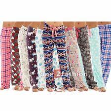Womens Ladies Fleece Loungewear Pants Pyjamas Bottoms Trousers Nightwear PJs