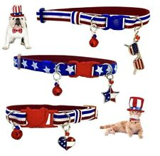 Collars for Dogs and Cats on the occasion of July 4th Usa. Small Pets Perros