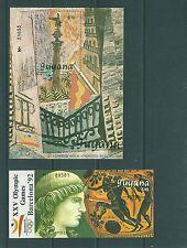 GUYANA 1989 2HB 29A-B APOLO/COLÓN(PICASSO) BARCELONA 92 DOS HOJAS BLOQUE