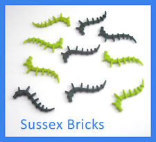 Lego Plants - 10x Vine Spiky Seaweed Lime Dark Green 55236 New Pieces