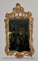 French Rococo Gilt Pier Mirror Glass Mirrors