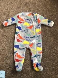Baby Boy Fleece Sleepsuit 3-6 Months NEXT