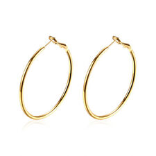 14k Yellow Gold Twisted Round Hoop Earrings