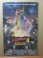 Vintage Poster nightmare on Elm street Movie 1980's horror Dream Master Inv#2808
