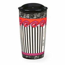 New! LIMITED EDITION ANNA SUI + STARBUCKS® ROSE STRIPE DOUBLE WALL TRAVELER 12oz