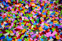 ☀️1000 Small Lego Detail pieces All Girl Colors Pastel purple pink Build legos