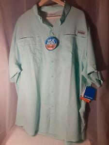 Columbia PFG Vented Short Sleeve Big Mens 3XL Omni Shade Fishing/Outdoor Shirt