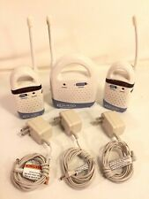 Graco Two Channel Baby Monitor System Base With 2 Adult Receivers Power Adaptors