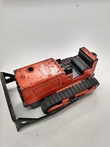 "Vintage Tonka Orange Bulldozer 1950's - 4 1/4"" long"