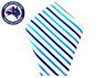 Men's Pocket Squares Blue White Stripes Party Tuxedo Handkerchief Hanky Hankies
