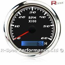 85mm Rev Counter With Hour Meter Tachometer Tacho RPM Gauge Diesel Turbo TDI TD