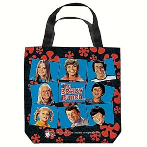 The Brady Bunch 16 in x 16 in Tote Bag - New