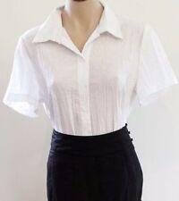 Cotton Blend Short Sleeve Geometric Regular Tops & Blouses for Women