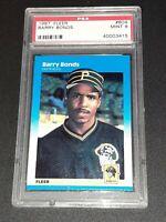 1987 Fleer BARRY BONDS Rookie #604 PSA MINT 9! High Gloss! Giants, Pirates, HOF