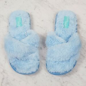 [ EASY STEPS ] Womens Fluffy / Faux Fur slippers  | Size M or AU 7 - 8
