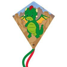 CIM Kinder-Drachen Eddy-S DRAGON 50x56cm Einleiner-Flugdrachen Drachenschnur