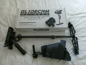 Glidecam HD-4000 stabilizer system with arm brace and quick release plate.