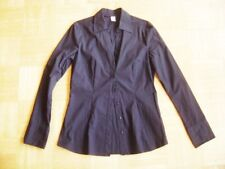 @ S.Oliver @ Blouse Hip Length Long Sleeve Black Basic Business Size XS gr. 34