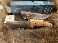 Muela Aborigen Knife Micarta Handles & Nice Leather Sheath Mint In Box - 12C