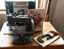 Singer Sewhandy Child's Beige Model 20 Sewing Machine, Box, Manual, Clamp, Etc
