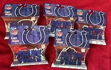Indianapolis COLTS Logo NFL Silly BANDZ 20 Bands Per Pack Lot Of 5 New!