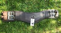 FULL PADDED LEATHER DRESSAGE/EVENT SHORT GIRTH ANATOMICAL SHAPED BROWN ALL SIZES