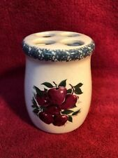 Home & Garden Party  'Apples' Toothbrush Holder Stoneware