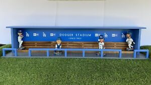 Los Angeles Dodgers Baseball Bobblehead Dugout Display Case Bench Super Size