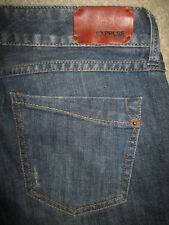 EXPRESS Zelda Skinny Stretch Dark Blue Denim Jeans Womens Size 4 R x 32.5 Mint