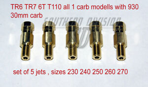 Hauptdüsen SET mainjets TR6 TR7 with 930 30mm concentric carb, 5 sizes 230-270