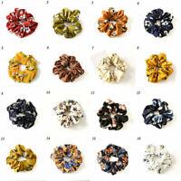 Hair Scrunchie Ponytail Holder Hair Ties Rope Elastic Flower Hair Band Jewelry