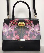 Ted Baker Arinna Handbag Lost Garden Medium Lady Bag  Navy Floral Design Gold