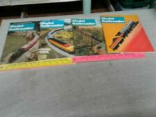 Model Railroader Mixed Lot Of 4 Magazine