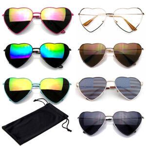 Heart SUNGLASSES Womens Retro Vintage Festival Fashion Sunglasses CASE