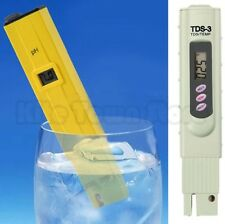 Digital Ph Meter + TDS Tester Aquarium Pool Hydroponic Water Monitor 0-9990 PPM