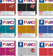 FIMO Leather Effect 57G Polymer Oven Bake Modelling Clay in 12 COLOURS