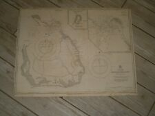 Vintage Admiralty Chart 2510 COCOS or KEELING ISLANDS 1918 edn