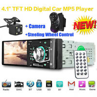 4.1'' Bluetooth Stereo Autoradio 12V Auto Mp5 Player FM Radio USB SD AUX +Camera