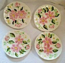"2 BLUE RIDGE China WILD ROSE Southern Potteries ""Wild Rose"" Saucers EUC"