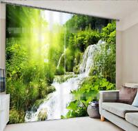 3D Sonnenlicht Wald Blockade Foto Vorhang Druckvorhang Vorhänge Stoff Fenster DE
