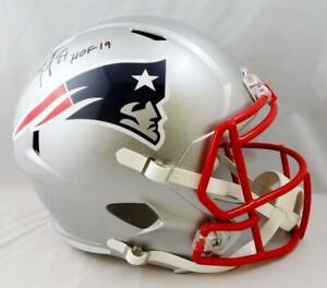 Ty Law Signed New England Patriots F/S Speed Helmet w/ HOF- Beckett Auth *Black