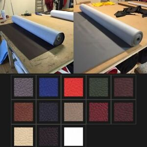 """UPHOLSTERY VINYL LEATHER FABRIC (54"""") WIDE 9 colours(TOP GRADE Flame Retardant)"""