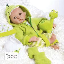 "Paradise Galleries Lifelike Reborn Baby Boy Doll ""Little Dino & Rex"" - 17 inch"