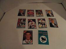 1991 92 - O PEE CHEE HOCKEY - SAN JOSE SHARKS  - 10 CARD SET S1 TO S10 - NM/M EC
