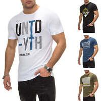 Jack & Jones Herren T-Shirt Kurzarmshirt Print Shirt Herrenshirt Casual SALE %