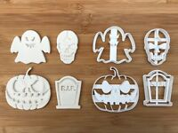 4 pcs Halloween set 7 Uk Seller Plastic Biscuit Cookie Cutter Fondant Cake Decor