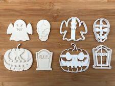 4 pcs Halloween set 7 Uk Seller Plastic Biscuit Cookie Cutter Fondant Cake Decor